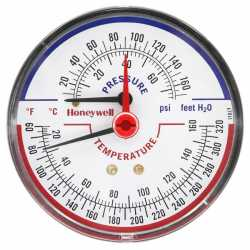 "Honeywell TD-090 3-1/8"" Teperature & Pressure Tridicator, Male NPT"
