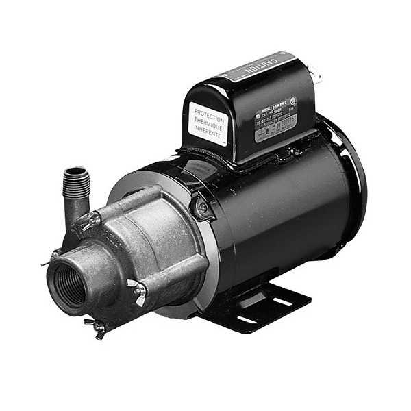 Magnetic Drive Pump for Highly Corrosive, 1/8HP, 115/230V
