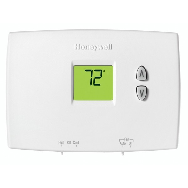 Honeywell TH1210DH1001 PRO 1000 Series Non Programmable MultiStage Thermostat, Settable Heat: 40 F to 90 F;  Cool: 50 F to 99 F