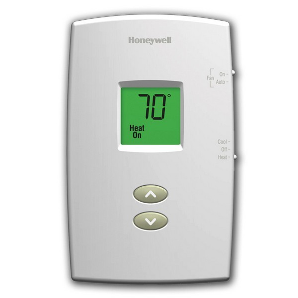 Honeywell TH1210DV1007 PRO 1000 Series Non Programmable MultiStage Thermostat, Settable Heat: 40 F to 90 F;  Cool: 50 F to 99 F