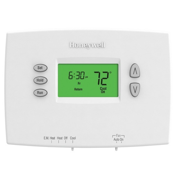 Honeywell TH2210DH1000 PRO 2000 Series 5-2 Day Programmable MultiStage Thermostat, Settable Heat: 40 F to 90 F; Cool: 50 F to 99 F