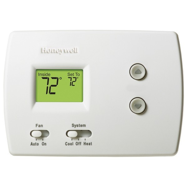 Honeywell TH3110D1008 PRO 3000 Series Non Programmable Single Stage Thermostat, Settable Heat: 40 F to 90 F;  Cool: 50 F to 99 F