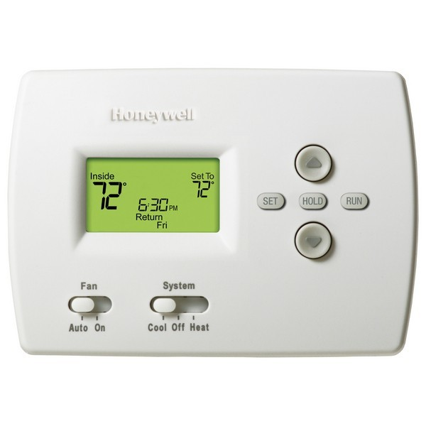 Honeywell TH4110D1007 PRO 4000 Series 5-2 Day Programmable Single Stage Thermostat, Settable Heat: 40 F to 90 F; Cool: 50 F to 99 F