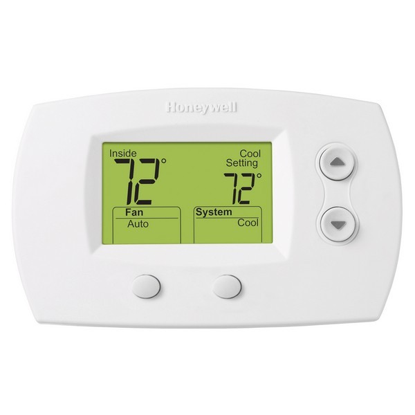 Honeywell TH5110D1022 FocusPRO 5000 Series Non Programmable Single Stage Thermostat, Settable Heat: 40 F to 90 F;  Cool: 50 F to 99 F