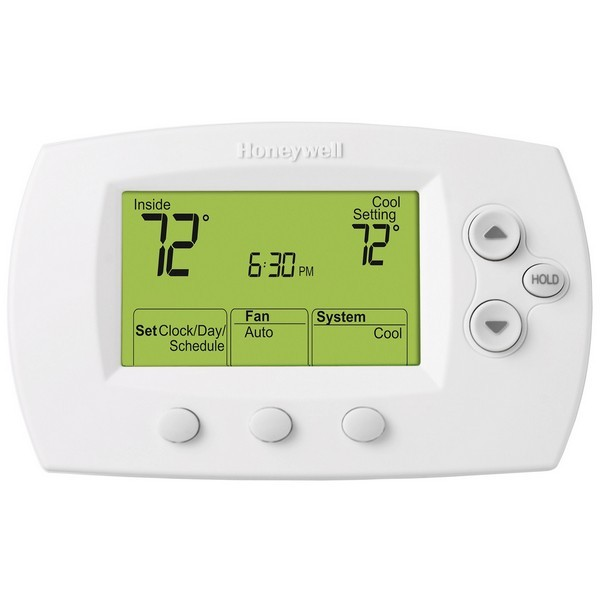 Honeywell TH6110D1021 FocusPRO 6000 Series 5-1-1 Day Programmable Single Stage Thermostat, Settable Heat: 40 F to 90 F; Cool: 50 F to 99 F