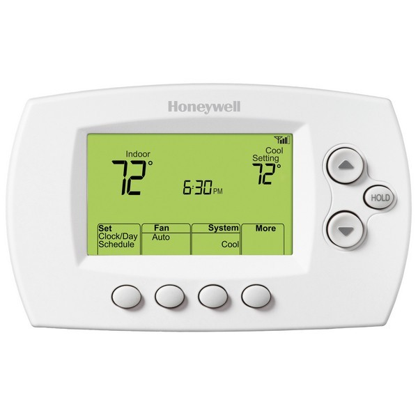 Honeywell TH6320WF1005 FocusPRO WiFi Series 7-Day Programmable MultiStage Thermostat, Settable Heat: 40 F to 90 F; Cool: 50 F to 99 F