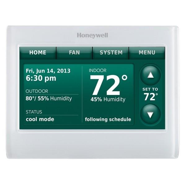Prestige IAQ Series 7 Day Programmable MultiStage Thermostat THX9421R5021WG, Settable Heat: 40 F to 90 F; Cool 50 F to 99F