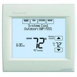 Honeywell TH8110R1008 VisionPRO 8000 Series 7 Day Programmable Single Stage Thermostat, Settable Heat: 40 F to 90 F; Cool 50 F to 99F