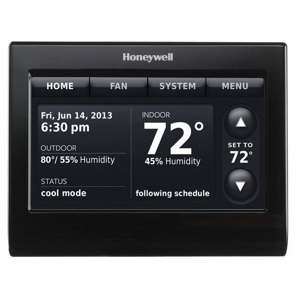 Prestige IAQ Series 7 Day Programmable MultiStage Thermostat THX9421R5021BB, Settable Heat: 40 F to 90 F; Cool 50 F to 99F
