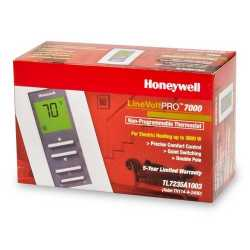 Honeywell TL7235A1003 TL7235 Series Non Programmable Heat Only Thermostat, Settable 40 F to 86 F