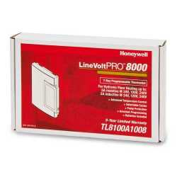 Honeywell TL8100A1008 TL8100 Series 7-Day Programmable Heat Only Thermostat, Settable 40 F to 85 F