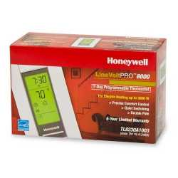 Honeywell TL8230A1003 TL8230 Series 7-Day Programmable Heat Only Thermostat, Settable 40 F to 86 F