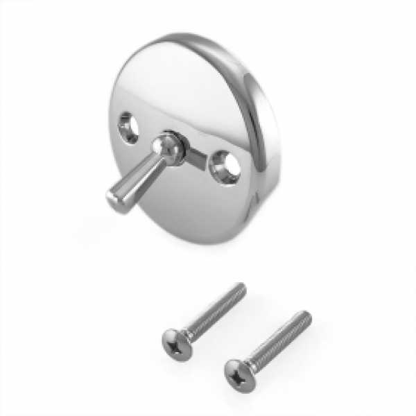 Trip Lever Bathtub Overflow Faceplate w/ Screws, Chrome Plated, 2-hole