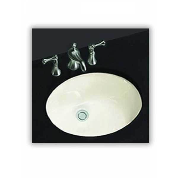 Fine Fixtures UM1714W 17 x 14 Oval Under-Mount Lavatory