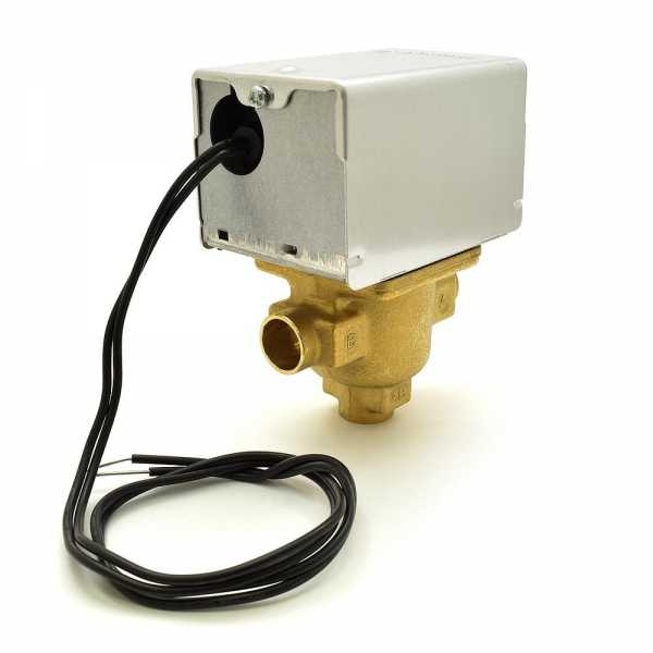 """Honeywell V4044A1019 Three-way, Diverting Zone Valve, 1/2"""" Sweat Connection"""