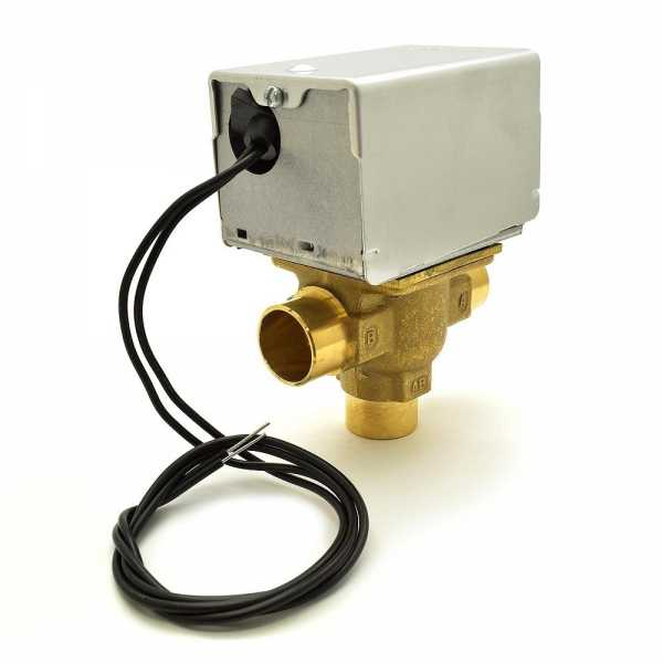 """Honeywell V4044A1191 Three-way, Diverting Zone Valve, 3/4"""" Sweat Connection"""