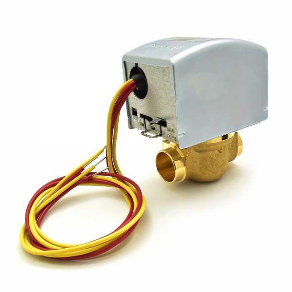 """Honeywell V8043E5012 Two-way, Straight-through Zone Valve, 3/4"""" Sweat Connection"""