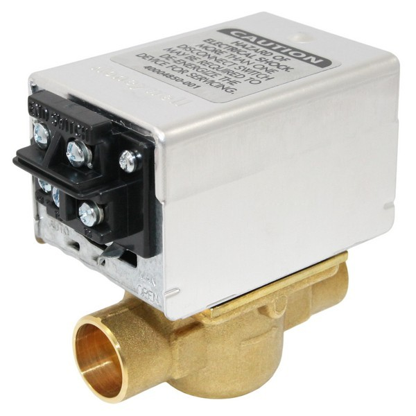 """Honeywell V8043F1093 Two-way, Straight-through Zone Valve, 3/4"""" Sweat Connection"""