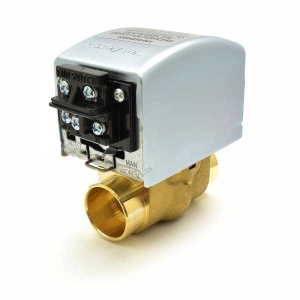 """Honeywell V8043F5051 Two-way, Straight-through Zone Valve, 1"""" Sweat Connection"""