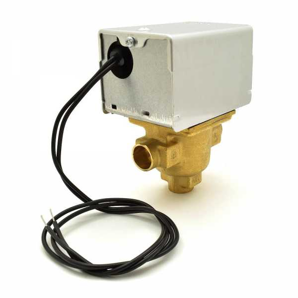 """Honeywell V8044A1010 Three-way, Diverting Zone Valve, 1/2"""" Sweat Connection"""
