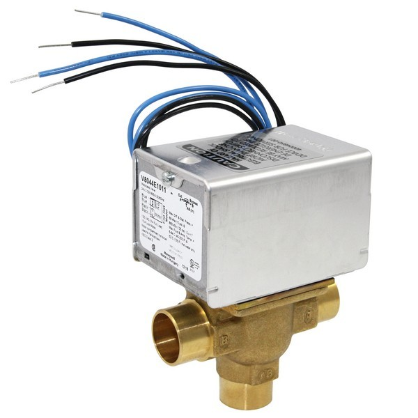 "Honeywell V8044E1011 Three-way, Diverting Zone Valve, 3/4"" Sweat Connection"
