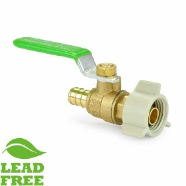 "1/2"" PEX x Swivel FNPT Brass Ball Valve, Full Port (Lead-Free)"