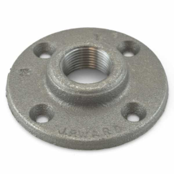 "1"" x 3-7/8"" Black Floor Flange"