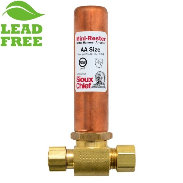 """Sioux Chief 660-GTC1 Mini-Rester Water Hammer Arrestor, 3/8"""" O.D. compr. Tee"""