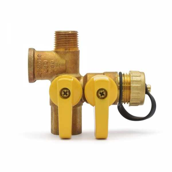"Webstone Valves 41672 1/2"" Threaded Pro-Pal Expansion Tank Pro Service Valve with Hose Drain"