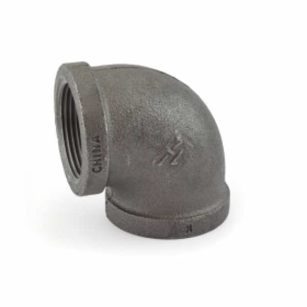 """1-1/4"""" Black 90° Elbow (Imported)"""