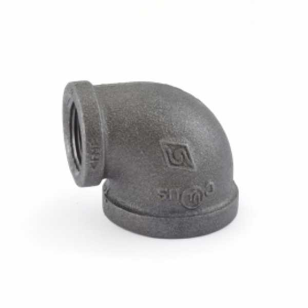 "1"" x 3/4"" Black 90° Elbow (Imported)"