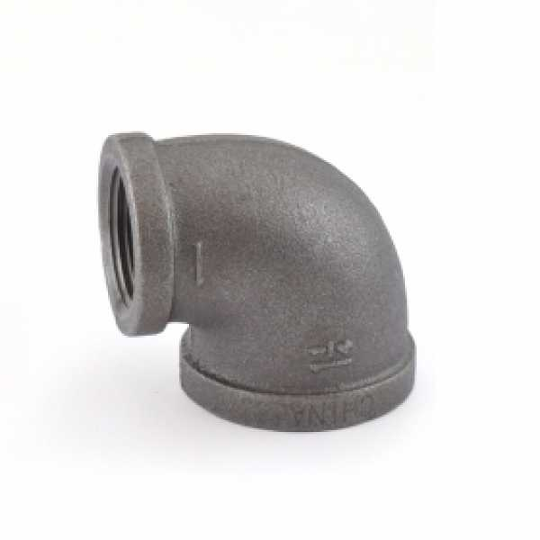 "1-1/4"" x 1"" Black 90° Elbow (Imported)"