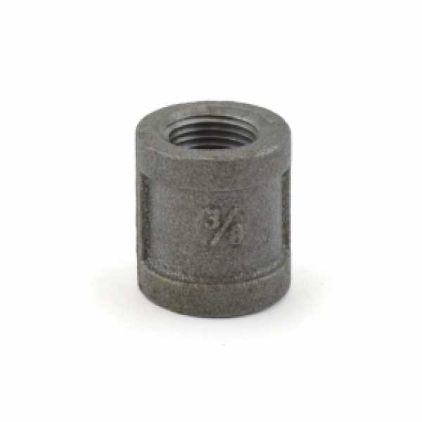 """3/8"""" Black Coupling (Imported)"""