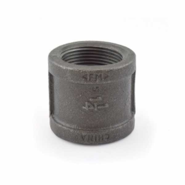 "1-1/4"" Black Coupling (Imported)"
