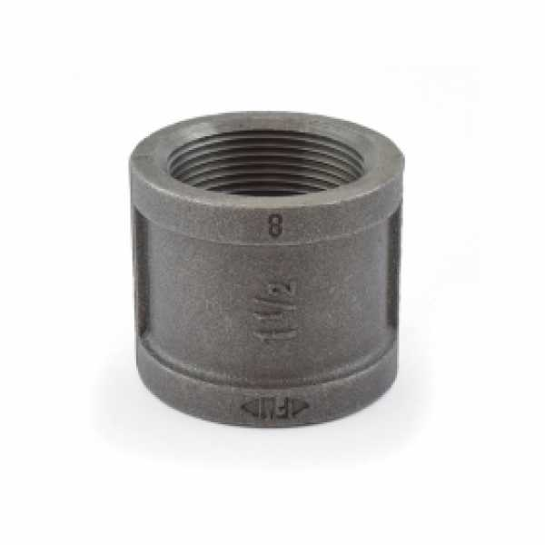 "1-1/2"" Black Coupling (Imported)"