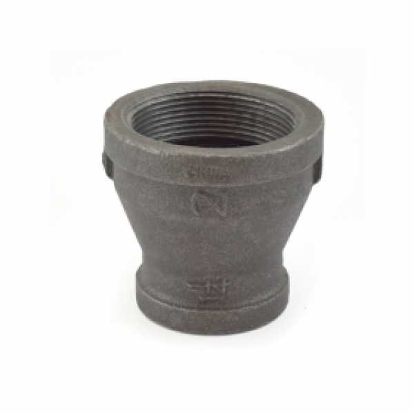 "2"" x 1-1/4"" Black Coupling (Imported)"