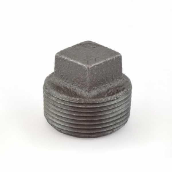 """1-1/4"""" Black Plug (Imported)"""