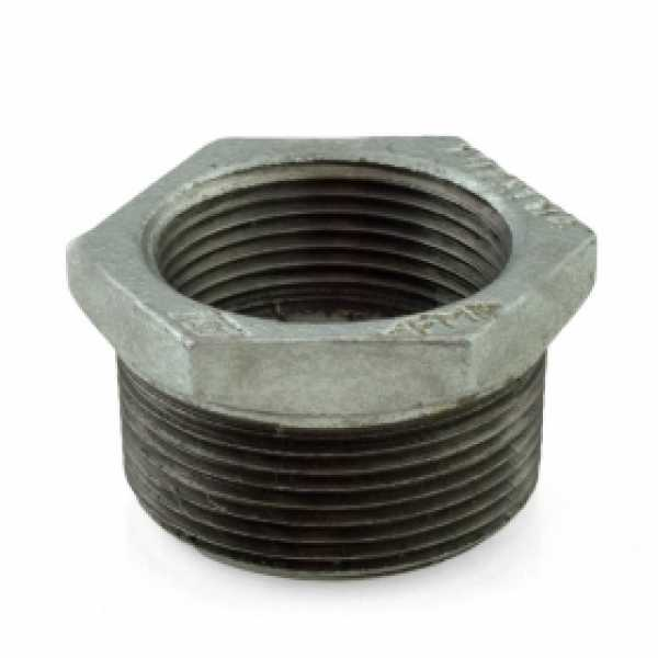 "1-1/2"" x 1-1/4"" Galvanized Bushing"