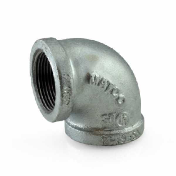 "1-1/4"" Galvanized 90° Elbow"