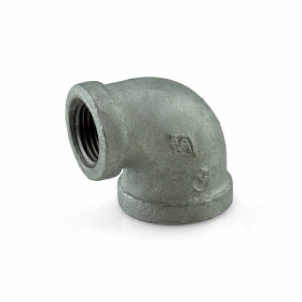 "3/4"" x 1/2"" Galvanized 90° Reducing Elbow"