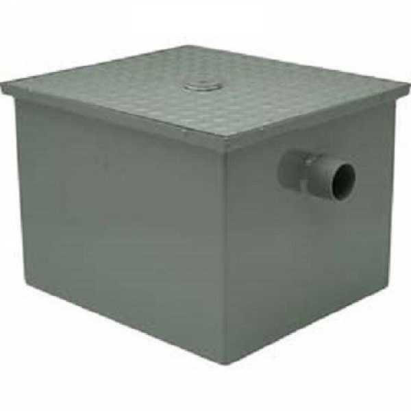 "#40 Grease Trap, 20 PGM, 40 lbs, 3"" no-hub inlet/outlet"