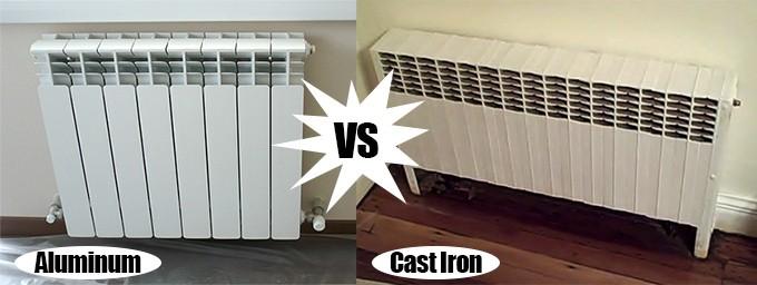 pros and cons of aluminum vs cast iron radiators