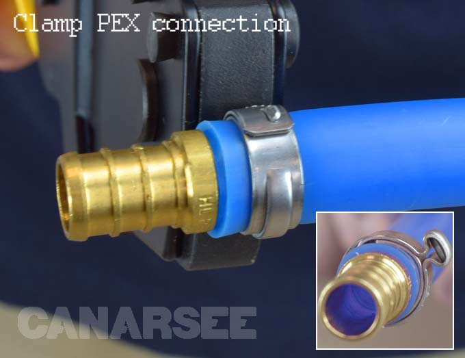 Types of pex tubing connections for Pex water heater connector