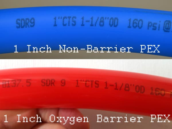 1 Inch PEX Pipe SDR ratio and CTS, OD size markings